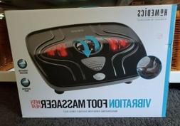 HOMEDICS VIBRATION FOOT MASSAGER WITH HEAT SOOTHING MASSAGE