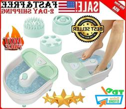 X Large Feet Foot Spa Bath Massager Heat Soaker Massage Bubb